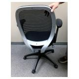Oooo Really Like This One! Executive Office Ergonomic Adjustable Seat & Arms With Padding On The Arms Chrome & Mesh Back Chair - Seat Is Extra Cushy!  Excellent Condition!