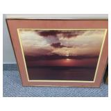 Beautiful Ocean Sunset Framed Picture