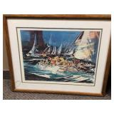 SAN FRANCISCO REGATTA HENRIE FINE ART COLLECTOR PRINT Edition 500 Signed By Artist COA Attached On Back