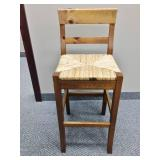Exquisite Weaved Wooden Chair Stool - Great Condition!