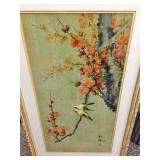AMAZING 1978 Asian Signed Oil On Cork Paper Painting With COA On Back - Excellent Condition!