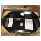 Rockland Dual Mount Composite Granite 33 in. 5-Hole Single Bowl Kitchen Sink in Soft White Customer Returns See Pictures