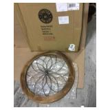 Round Wood and Metal Medallion Wall Decor Customer Returns See Pictures