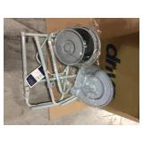 Folding Steel Bedside Commode by Drive Medical Customer Returns See Pictures