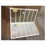 30 in. W x 16 in. H Steel Return Air 1 in. Filter Grille, White by Venti Air Customer Returns See Pictures