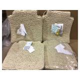 Franconia Boho Beige Knitted Cotton Chair Pads (Set of 2)Customer Returns See Pictures