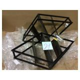 3-Tier Metal Matte Black Wall Mounted Diamond Shaped Rack Display Shelf Customer Returns See Pictures