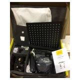 Shower System Wall Mounted with 12 in. Square Rainfall Shower head and Handheld Shower Head Set, Matte Black Customer Returns See Pictures