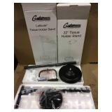 Freestanding Toilet Paper Holder in Matte Black by Gatco Customer Returns See Pictures