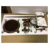 Stand Alone Tub Filler with Floor Mount - Freestanding 39.37 in Tub Bronze Faucet - Easy Installation Customer Returns See Pictures