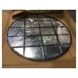 Medium Round Black Modern Mirror (40 in. H x 40 in. W) Customer Returns See Pictures