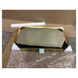 Calter 23.5 in. W x 35.5 in. H Framed Rectangular Beveled Edge Bathroom Vanity Mirror in Gold Customer Returns See Pictures