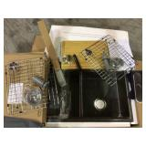 All-in-One Undermount Stainless Steel 33 in. 50/50 Double Bowl Workstation Kitchen Sink with Faucet and Accessories Customer Returns See Pictures