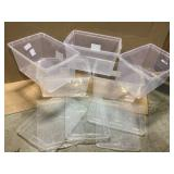 STORAGE BOX STACKABLE SNAP TIGHT LID Customer Returns See Pictures