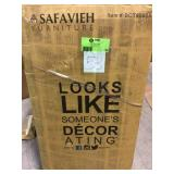 Eliza 2-Tier Brass Bar Cart by Safavieh Customer Returns See Pictures