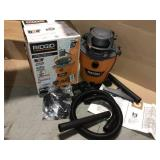 12 Gal. 6.0-Peak HP NXT Wet/Dry Shop Vacuum with Detachable Blower, Filter, Dust Bag, Hose and Accessories by RIDGID Customer Returns See Pictures