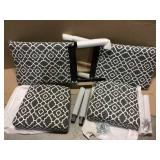 Jami Grey Fabric Dining Chair (Set of 2) Customer Returns See Pictures