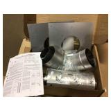 Rheem 3 in. x 5 in. Horizontal Stainless Steel Concentric Termination Vent Kit for Mid Efficiency Tankless Gas Water Heaters Customer Returns See Pictures