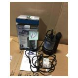 1/4 HP Submersible Thermoplastic Utility Pump by Superior Pump Customer Returns See Pictures