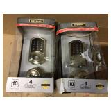 Castle Satin Nickel Electronic Touchpad Single Cylinder Deadbolt with Hartford Passage Knob Combo Pack by Defiant Customer Returns See Pictures