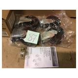 5 in. Black PP Caster Kit for Ready-to-Assemble Steel Garage Base Cabinets Customer Returns See Pictures