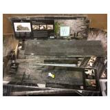 23.6 in. x 5.9 in. Medley Slate Peel and Stick Stone Decorative Tile Backsplash Customer Returns See Pictures