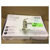 Rubicon Single Hole Single-Handle Bathroom Faucet in Vibrant Brushed Nickel by KOHLER Customer Returns See Pictures