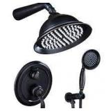 2-Handle 2-Spray of Rain 8 in. Round Shower Head Shower Faucet with Handheld Shower in Bronze (Valve Included) Customer Returns See Pictures