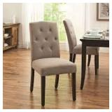 Better Homes and Gardens Parsons Upholstered Tufted Dining Chair,Taupe Customer Returns See Pictures