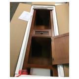 Austell 20 in. W x 60 in. H x 14 in. D Bathroom Linen Storage Cabinet in Espresso