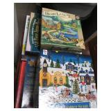 Large Lot of Jigsaw Puzzles Ranging...