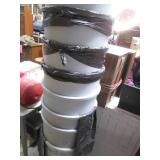 Lot of 8 Taller Heavy Duty Rubberma...