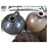 Lot of 5 Glazed Pottery Water Jug P...