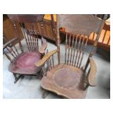 Lot of 2 Vintage Ornate Wood Rockin...
