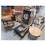 Lot of Vintage Wood Furniture inclu...