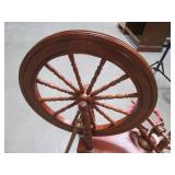 Vintage Wood Yarn Spinning Wheel wi...