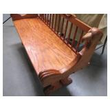 Heavy Duty Vintage Wood Bench with ...