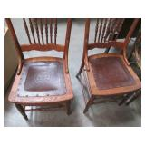 Lot of 5 Wooden Vintage Chairs, eac...