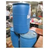 Lot of 3 Blue Heavy Duty Plastic Ba...