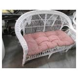 Vintage White Wicker Patio Style Co...