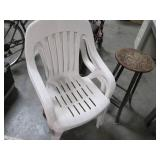 Lot of 3 Plastic Outdoor Patio Styl...