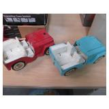 2 Vintage Collectible Metal Jeeps M...