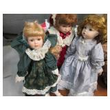 Lot of 3 Beautiful Porcelain Dolls ...