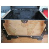 Smaller Wood Storage Chest with Nau...