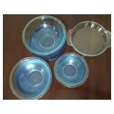 Pyrex Bowls with Lids and Anchor Pie Dish