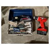 Black & Decker Drill with Toolbox of Tools