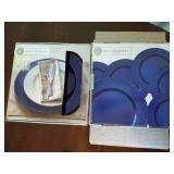 NIB Blue Chargers, Place Mats & Shakers