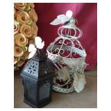 Outdoor Decor: Wreath, Watering Can & Decorative Lantern Covers