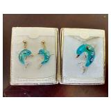Handmade Glass Dolphin Set
