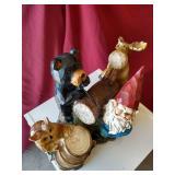 White Shelf with Gnome Figurine